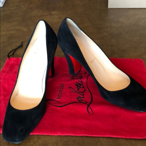6bd3919d036 Christian Louboutin Shoes - Christian Louboutin Viva Pump Black Suede 38.5  sz
